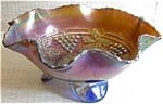 Blue Carnival Grape And Cable Bowl