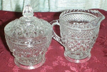 Wexford Creamer And Sugar Bowl With Lid