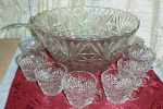 Anchor Hocking Arlington Punch Bowl Set