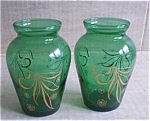 Anchor Hocking Forest Green Vases