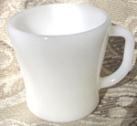 Federal Milk Glass Coffee Mugs