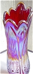Indiana Heirloom Red Carnival Glass Vase