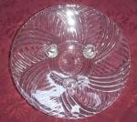 3-footed Swirl Crystal Dish