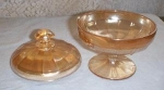 Beautiful Iridescent Footed Candy Bowl