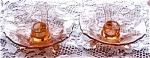 Amber Orange Candle Holders