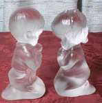 Fenton Crystal Praying Boy And Girl