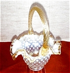 Fenton French Opalescent Springtime Basket