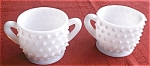 Fenton Milk Glass Hobnailcreamer And Sugar