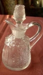 Stippled Scroll And Flower Cruet