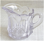Heisey Colonial Sun Purpled Cream Pitcher