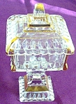 Crystal Wedding Gold Flashed Compote