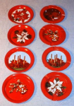 Vintage Christmas Coasters Ash Trays