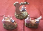 Set Of 3 Bunny Figurines