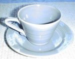 Homer Laughlin Harlequin Gray Cup & Saucer