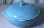 Vintage Fiesta Turquoise Covered Casserole