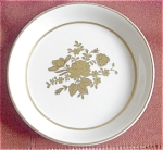 Lefton Gold Rose Decorated Porcelain Coaster
