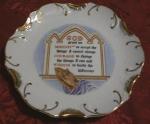 Serenity Prayer Religious Plate
