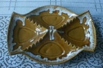 Art Pottery Butterscotch Drip Huge Ashtray