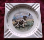 Bird Dog Ceramic Ash Tray