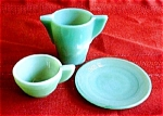Akro Agate Childs Jade Green Dishes