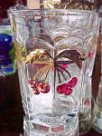 Cherry + Cable Or Thumbprint Crystal Decorated Tumbler