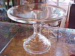 Crystal 10'' Cake Stand Pedestal Plate