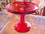 Ruby Red 6'' Cake Cupcake Cookie Stand Pedestal Plate
