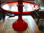 Ruby Red 12'' Cake Stand Pedestal Plate