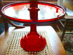 """Ruby Red 10"""" Cake Stand Cake Plate"""