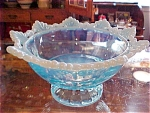 Aqua Opal Ring And Petal Footed Bowl Compote