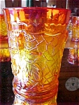 Signed Maple Leaf Marigold Carnival Tumbler