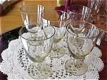 5 Vintage Holmegaard Crystal 6oz Stems