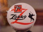 1957 Licensed Zorro 7up Disney Pinback