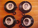 Set Of 4 Beatles Records Charms C1965
