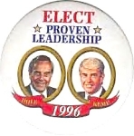 1996 Dole Kemp Presidential Campaign Pinback