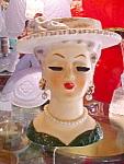 Vintage Deco Sonsco Head Vase W Pearls