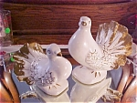 Pair Vintage Lefton Lovebirds / Doves