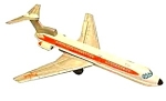 C1960 11'' Tin Litho Friction Twa Boeing 727 Jet Toy