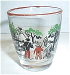 Vintage Man And Boy Fishing Shot Glass
