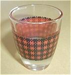 Vintage Red Plaid Shot Glass