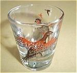 Vintage Pheasants Flying Shot Glass