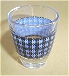 Vintage Blue Plaid Shot Glass