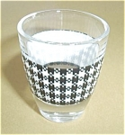 Vintage White Plaid Shot Glass