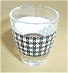 Vintage White Plaid Shot Glass