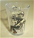 Vintage Man W/cane At Bar Drinking Shot Glass.
