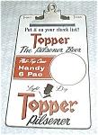 Vintage Topper Beer Clip Board
