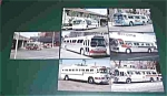 7 Different Buses Postards Postcard