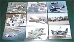 8 War Airplane Postcards Postcard