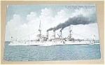 1906 United States Battleship Kansas By N. L. Stebbins