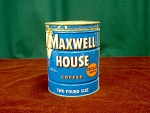 2 Lb. Maxwell House Coffee Tin With Lid